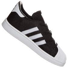 Adidas Originals Superstar I Bébé Petits Enfants Chaussures de Sport Noir Blanc