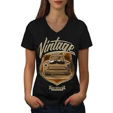 Vintage Car Forever Women V-Neck T-shirt NEW | Wellcoda
