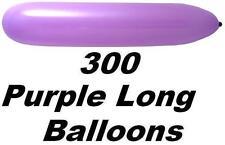 "300x 12"" Latex Party Balloons ( Long & Purple )"