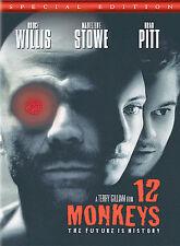 12 Monkeys (DVD, 2005, Special Edition) Bruce Willis/Madeleine Stowe/Brad Pitt!