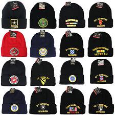 US Military BEANIE Navy Army Air Force Marine Cuffed Hat Cap Premium Quality