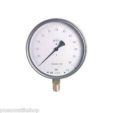 Feinmessmanometer Ø160mm Anschl unten, Vakuum, Manometer, Feinmess, versch Typ.
