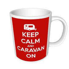 KEEP CALM AND CARAVAN ON - GLOSSY  RETRO STYLE PHOTO MUG