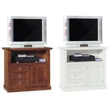 Arredo per interni mobile porta tv 84x40x80h color bianco opaco noce lucido |c