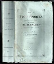 PRECIS HISTORIQUE & CRITIQUE DE LA DOCTRINE DES PHILOSOPHES 1857 DEPUIS VOLTAIRE