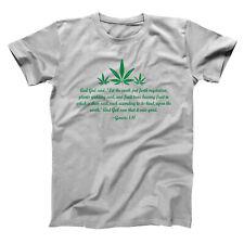 Genesis 1:11 Weed Price Herd Peace Love Bible Hemp Gray Basic Men's T-Shirt