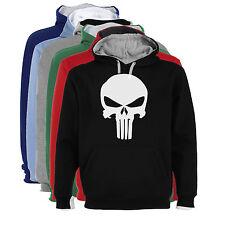 Sudadera Capucha Bicolor Castigador Punisher Marvel Hombre tallas colores a021