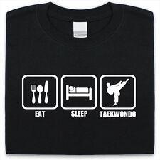 Eat Sleep Taekwondo T-Shirt Mens Womens Funny gift Present