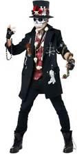 Voodoo Dude Adult Men Costume Suit Coat Attach  Vest Hat Mask No Gloves Pants