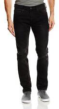 Duck and Cover Men Harlequin Stretch Slim Tapered Jeans Black Denim Pants