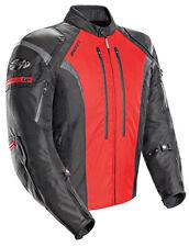 Joe Rocket Men's Atomic 5.0 Black/Red Waterproof Armored Motorcycle Jacket