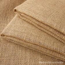 "2m Luxury Jute Hessian Burlap Fabric Wedding Craft Upholstery 100 cm/ 40"" width"