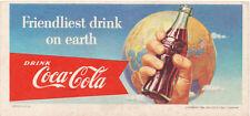 Coca Cola Blotter, 1956, Friendliest Drink on Earth