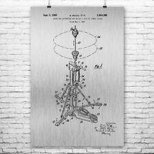 Hi Hat Cymbal Poster Patent Art Print Gift, Hi Hat Poster, Drums Poster, Drummer