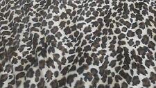 "Leopard Faux Fur with Black VelvetTravel Blanket 40"" x 60""  + pillow"