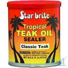 STARBRITE TROPICAL TEAK OIL SEALER. CLASSIC TEAK COLOR 32oz.