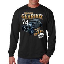 Eddie Gearbox Tap & Die Skull Hot Rat Rod Car Racing Long Sleeve T-Shirt Tee