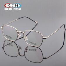 Fashion Glasses Eyewear Eyeglasses Metal Frame Fullrim Spectac Mutishape RX Lens