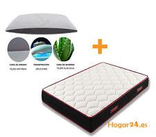 Hogar24 -Colchon viscoelastico MEMORY FRESH 3D + almohada COPOS de viscoelastica