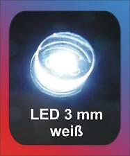 10 x LED 3 mm blanco difuso: emisión > 300 grados