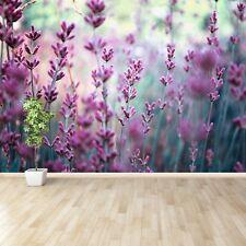 Photo sur papier peint Préencollé Amovible Réutilisable Lavande Vert