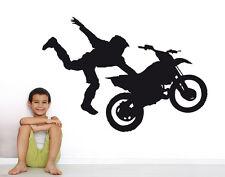 Wandaufkleber: Motocross Motorrad Moto Cross Bike Sport Kinderzimmer WandTattoo