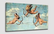 Quadro Angeli Putti cm 50x90 Stampa su Tela Effetto Dipinto