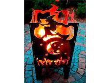 Feuerkorb Hexe mit Grillrost und Aschblech Feuersäule Lichtspiel Feuerschale