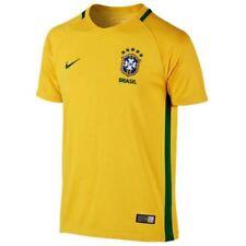 NIKE CBF Brazil Home 2016 Golden Yellow S S Soccer Jersey Boys Girl NEW  Youth f61e4661a