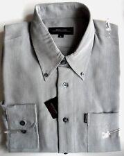 PIERRE CARDIN Shirt Mens Long Sleeve Button Down Collar Navy White Indigo M L XL
