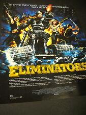 ELIMINATORS Mandroids 1986 PROMO POSTER AD mint cond