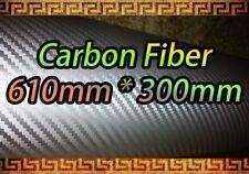 Fibra De Carbono Silver Wrap Vinilo Hoja pegatina 610 * 300mm