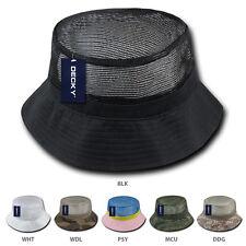 Fisherman Cool Mesh Top Bucket Camo Hat
