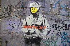 Banksy Riot Police Uniform Canvas Pictures Graffiti Urban Boys Wall Art Prints