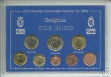 The Euro Zone - Kingdom of Belgium Belgian European Coin Collector Gift Set