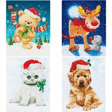 Diamond Dotz Diamond Painting Kit Intermediate Level Christmas Dog Cat