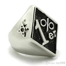 316L Stainless Steel 1% skull Biker ring 1%er Sizes US 8-15