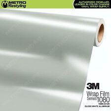 3M 1080 Series GLOSS WHITE ALUMINUM Vinyl Vehicle Car Wrap Decal Film Roll G120