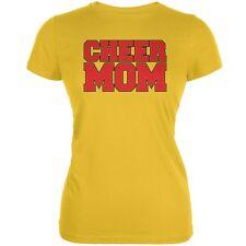 Cheer Mom Bright Yellow Juniors Soft T-Shirt