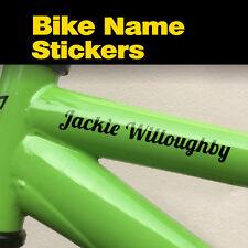 4x cadre de vélo nom Personalised cycle Club mtb bmx équipe vinyle autocollant decal