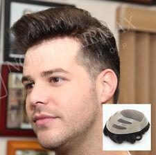 Fine Mono Hair Replacement Skin Front Toupee Men's Hairpiece Bond System Xmas
