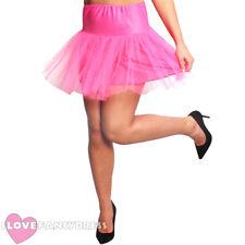 Corto color de rosa caliente para Net Tutú 1950S Fancy Dress Costume Accesorio anotó