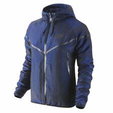 Nike Women's Tech Woven Shimmer Windrunner Jacket - Dark Blue