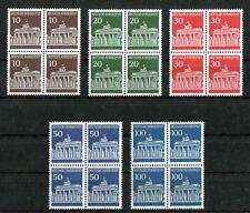 Bund 506 - 510 postfrisch Viererblock VB Brandenburger Tor 1966 Michel 70 €