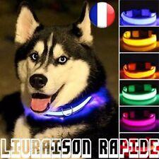 LED Collar Perro Lumière Noche Seguridad Intermitente Glow Mascota Gato Luminoso