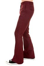 Hommes 60 s 70 S rétro vintage Presley Bourgogne Bell Bas Pantalon
