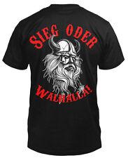 Sieg oder Walhalla T-Shirt Fun Shirt Odin Wikinger Thor Walhalla Walküren Freya