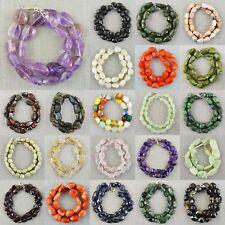 Natural Labradorite, Rose Quartz, Tanzanite Tumble Cut Beads Handmade Necklace