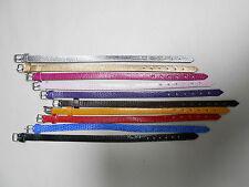 1 bracelet en simili cuir 22 cm de L fabrication bijoux  couleur au choix NEUF