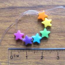 200 Mini Star Cuentas Plástico Acrílico 6mm Brillantes Colores Colorido Lindo Kitsch